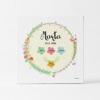 Natalicio personalizado Flores regalos personalizados parea Bebés Universopeque