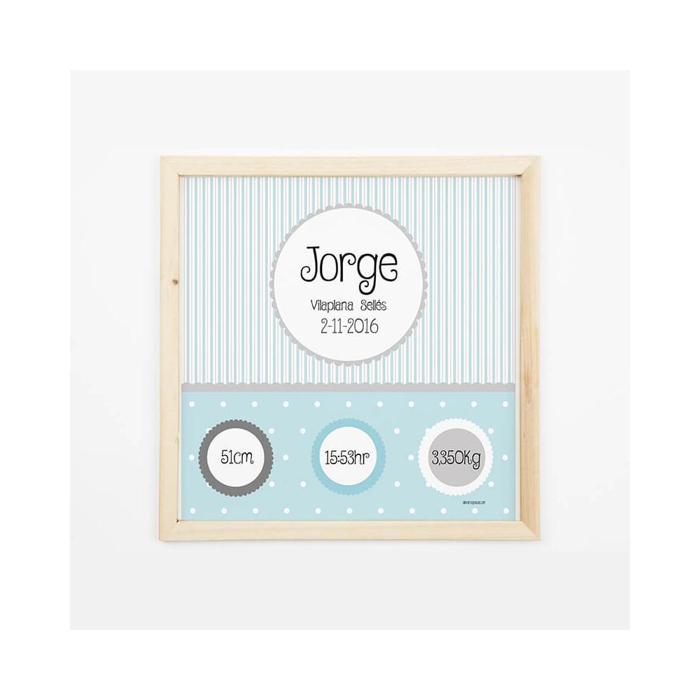 Natalicio Personalizado  Azul Regalos para Bebés personalizados