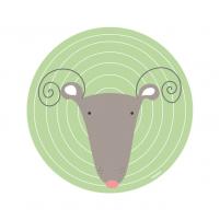 Vinilo Infantil animal ciervo para la habitación del Bebé, niño o Niña