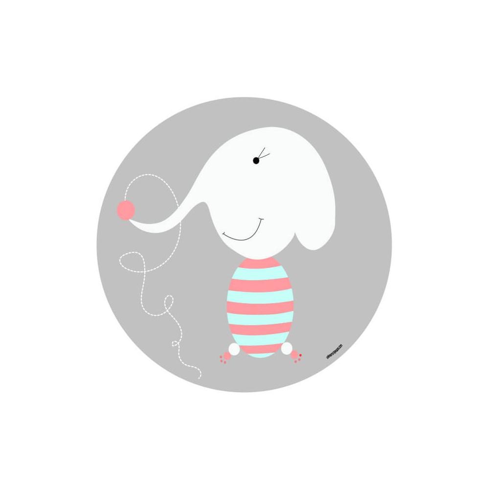 vinilo infantil animal elefante gris