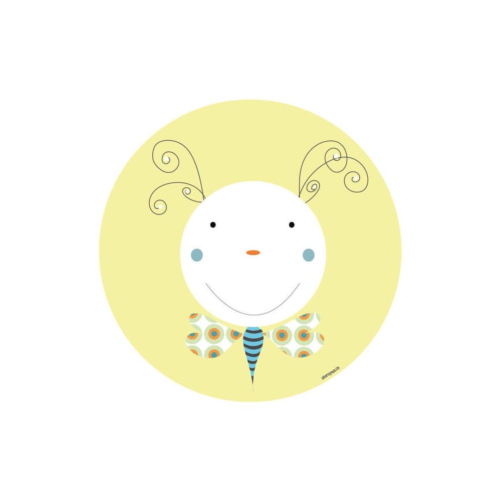 vinilo infantil animal gusano amarillo