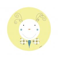 Vinilo Infantil animal gusano amarillo vinilo decorativo para la habitación del Bebé, Niño o Niña