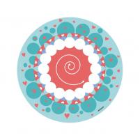 Vinilo Infantil Niña Mandala, vinilo decorativo de pared para la habitación del Bebé o Niña.