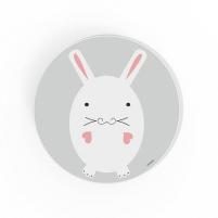 Cuadro redondo Conejo, cuadro infantil decorativo para Bebés