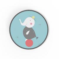 Cuadro redondo elefante, cuadro decorativo infantil