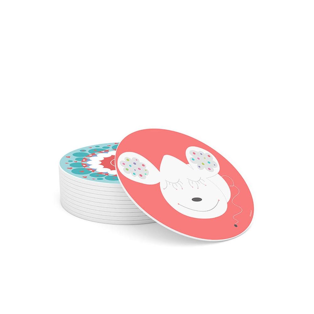 Cuadro Redondo Orejas, cuadro infantil decorativo para la habitación del Bebé, Niño o Niña