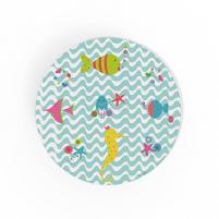 Cuadro Redondo Fondo Mar, cuadro infantil decorativo para la habitación del Bebé, Niña o Niño