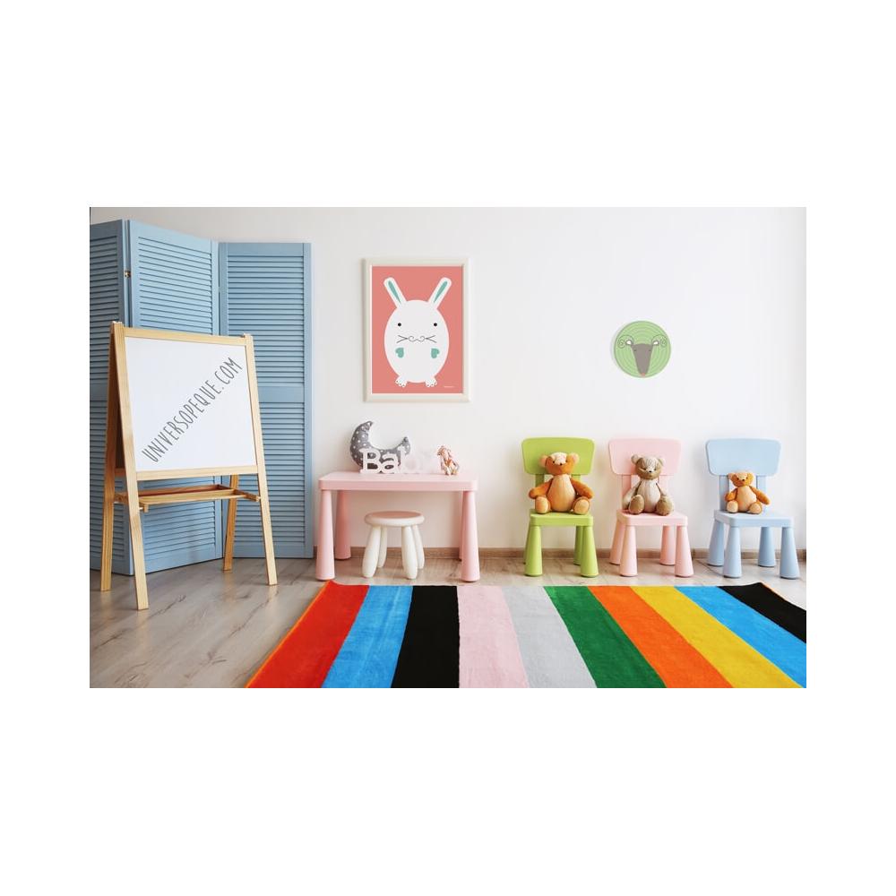 Cuadro Redondo Capricornio, cuadro decorativo infantil para Bebés o Niños