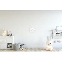 Cuadro Redondo Oveja, cuadro Infantil de Animales para la habitación del Bebé, Niño o Niña.