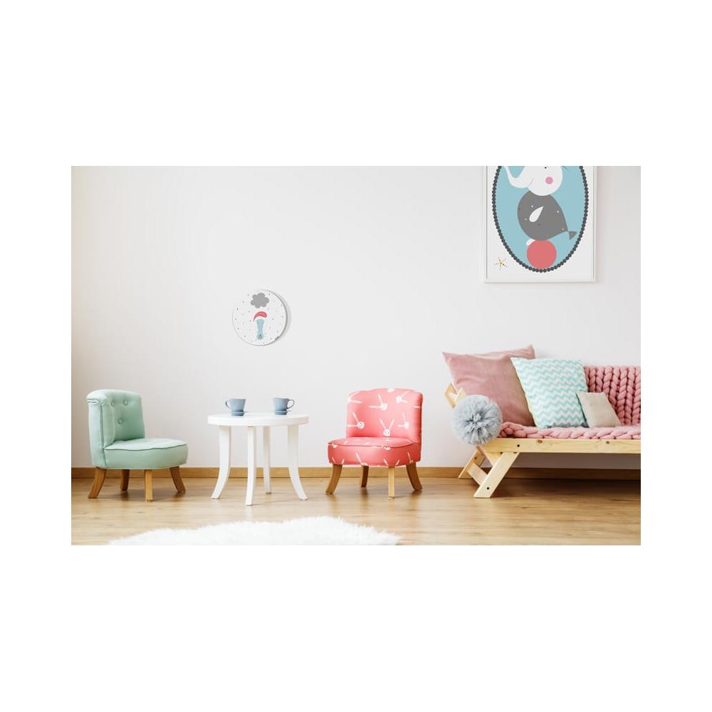 Cuadro Redondo Ratita, cuadro decorativo para Bebés y Niños