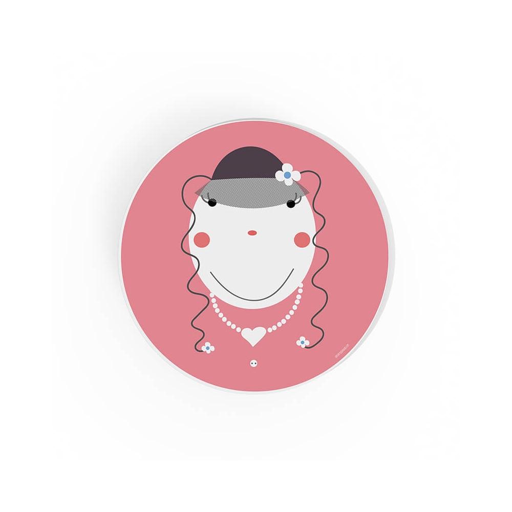 Cuadro Redondo Lady, cuadro para niñas