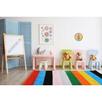 Cuadro Redondo Él amarillo para la habitación del Bebé o Niño