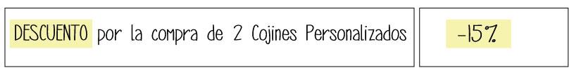 Cojines Infantiles Personalizados