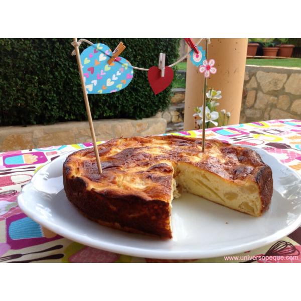 Receta sana de Tarta de Queso y Manzana